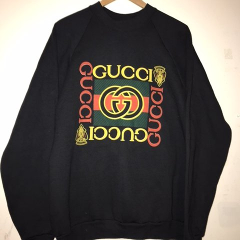 921f9a7baad Vintage bootleg Gucci sweater Basically deadstock super - Depop