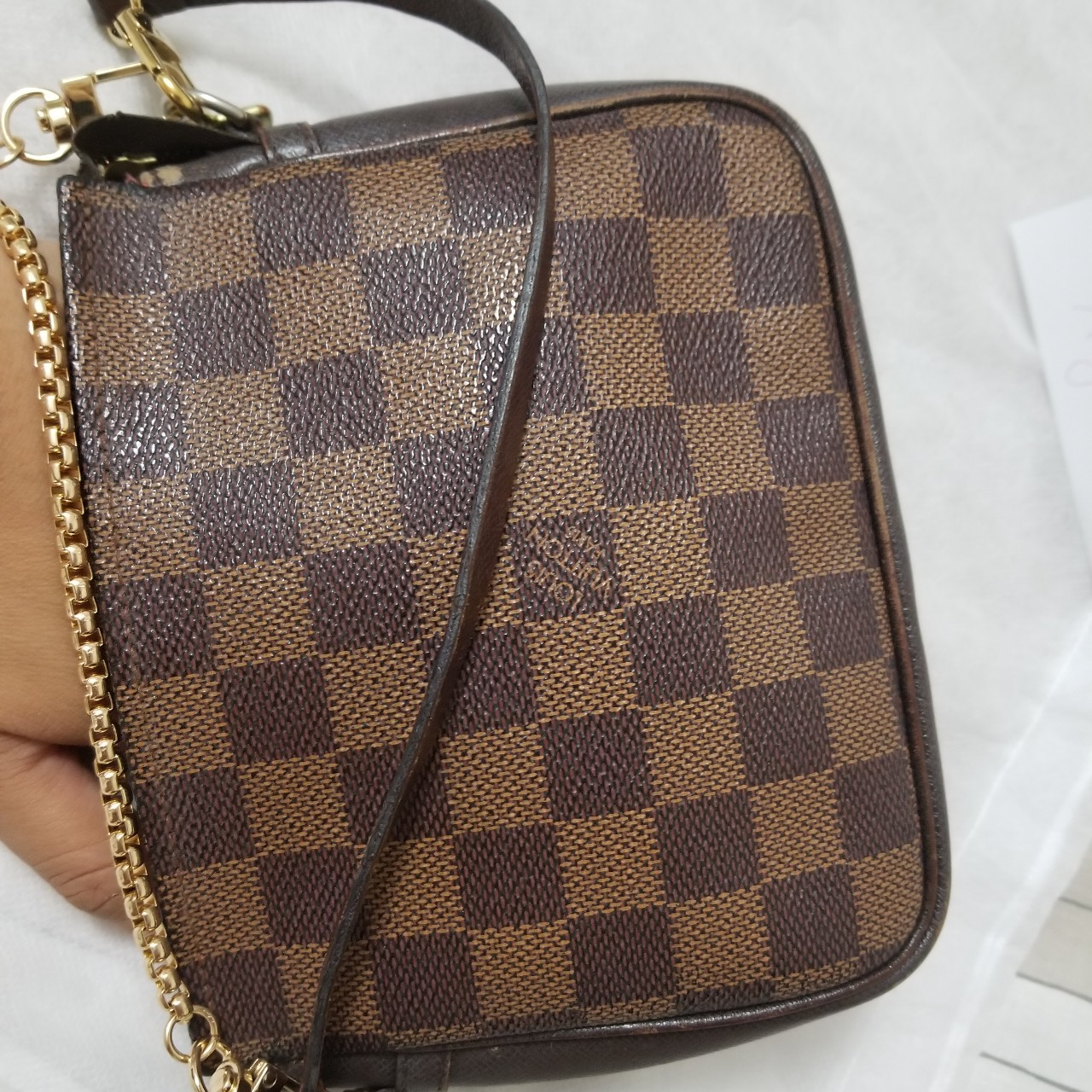 100 Authentic Mini Louis Vuitton Made In France Has No Date >> Do Not Buy On Hold Louis Vuitton Damier Ebene Depop