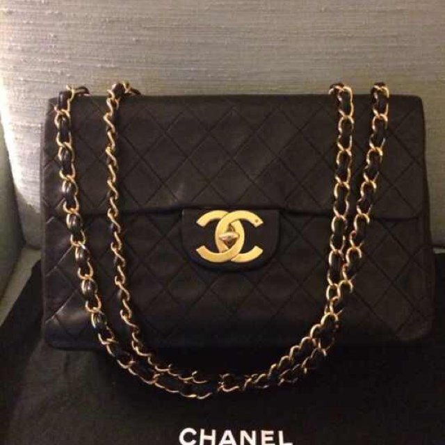 a1515f99f931 @alsshop. 5 years ago. South Jakarta, Indonesia. Chanel maxi vintage black  lambskin in gold hardware