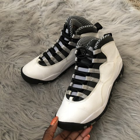 3182b1bfbc7613 Air Jordan steel 10s Condition  8 10 Item sold as is All in - Depop