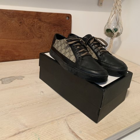 60181daa6 @joecollison55. 29 days ago. Nottingham, United Kingdom. Men's Gucci  leather sneakers/trainers size 11 or EU45. Good condition ...