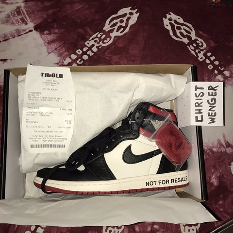 "50a911d4a35455 Jordan 1 Retro High ""NOT FOR RESALE"" Varsity Red Size box"