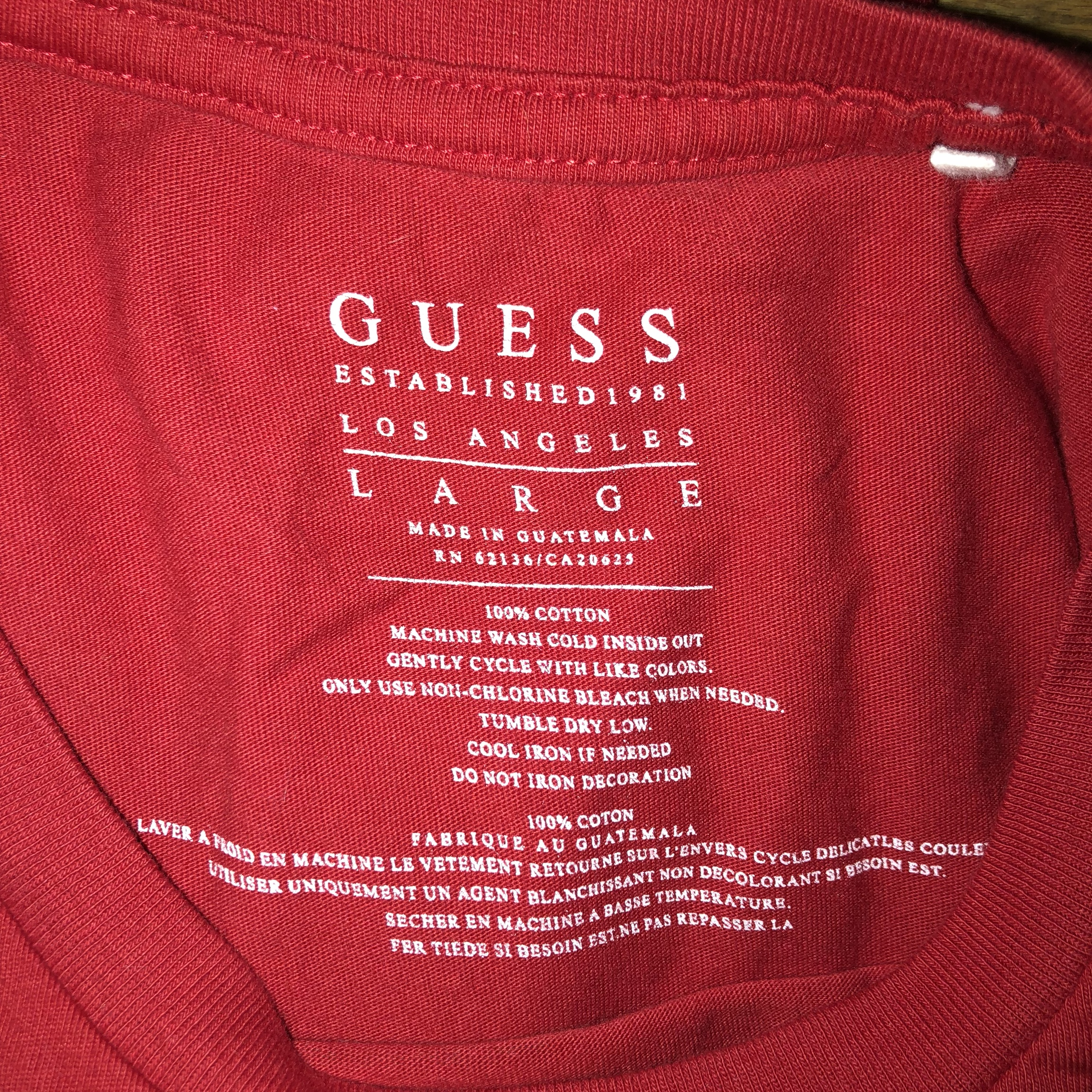 Laver Le Blanc Temperature guess t-shirt original guess tee with the front - depop