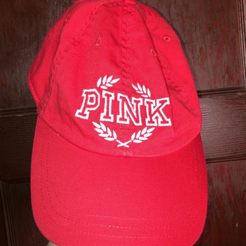 7fa5a77edfa61 red victoria s secret pink hat! only worn three times