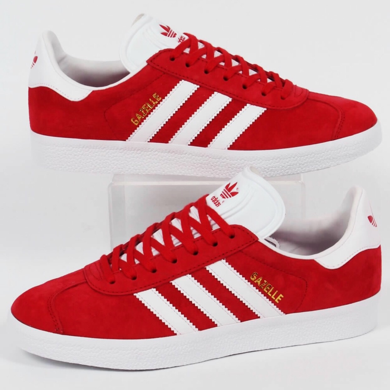 Size 7.5 Adidas Gazelle Trainers in Red