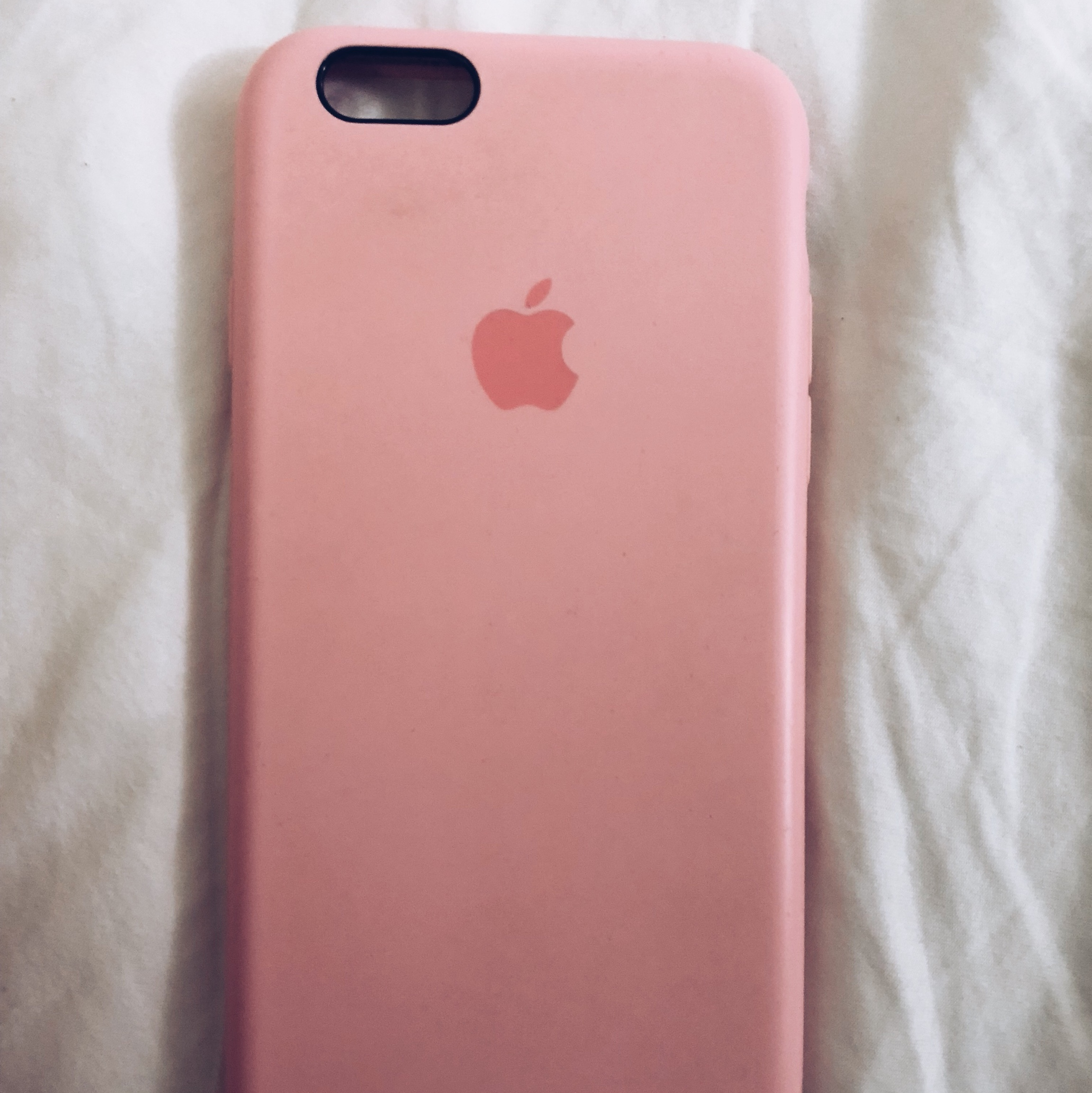 sports shoes b223c 714d2 Used baby pink Apple 6/6s/7/8 iPhone case. Good... - Depop