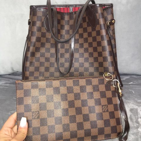 Louis Vuitton Neverfull MM bag. Dusty inside needs a clean - Depop 033546e0266bf