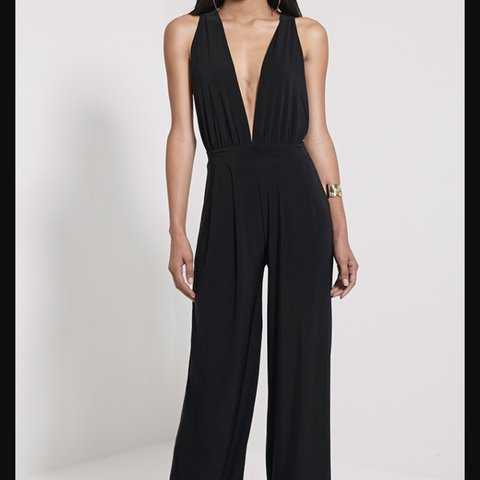 8f33e1f1710e  hannahd7. 3 years ago. United Kingdom. Black wide leg multiway jumpsuit.