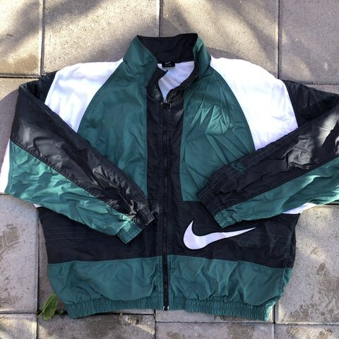 497570f1d9b3 Vintage Nike Windbreaker Full zip Great color block Lined - Depop