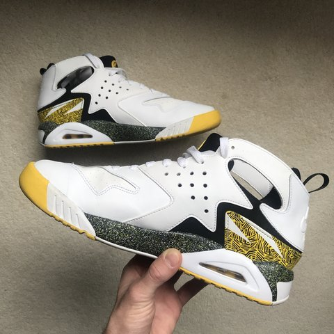 aa2581c21a3f Nike Air Tech Challenge Huarache  Tour Yellow  Andre Air for - Depop