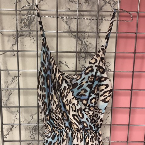 641845ee54 Blue nude brown leopard print jumpsuit New with tags - Depop