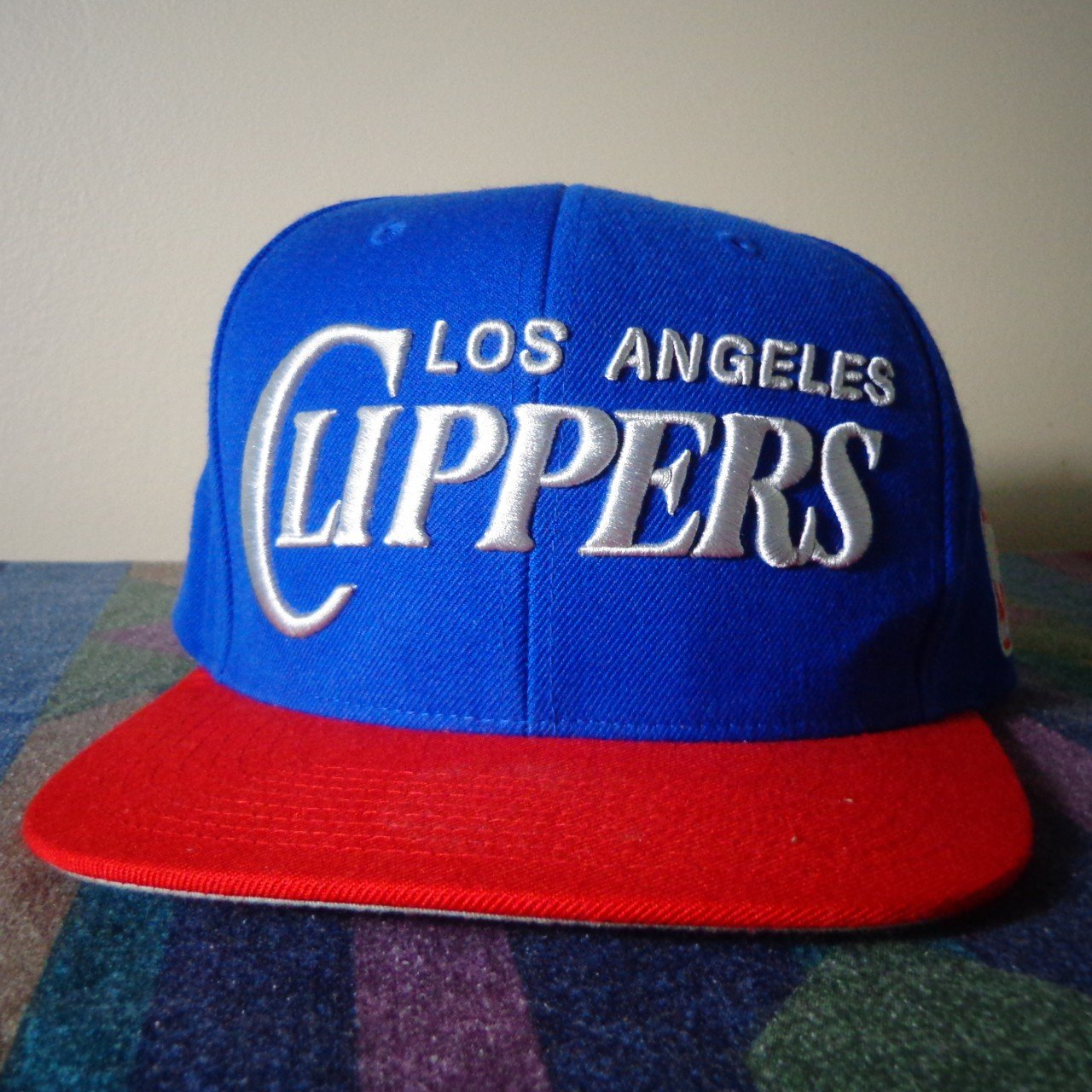 c91f1d0c478 Los Angeles Clippers Snapback Hat Mitchell and Ness - Depop