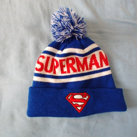 05e276d526b ✨Superman beanie with pom pom ✨Brought at Forever21 Tags  - Depop