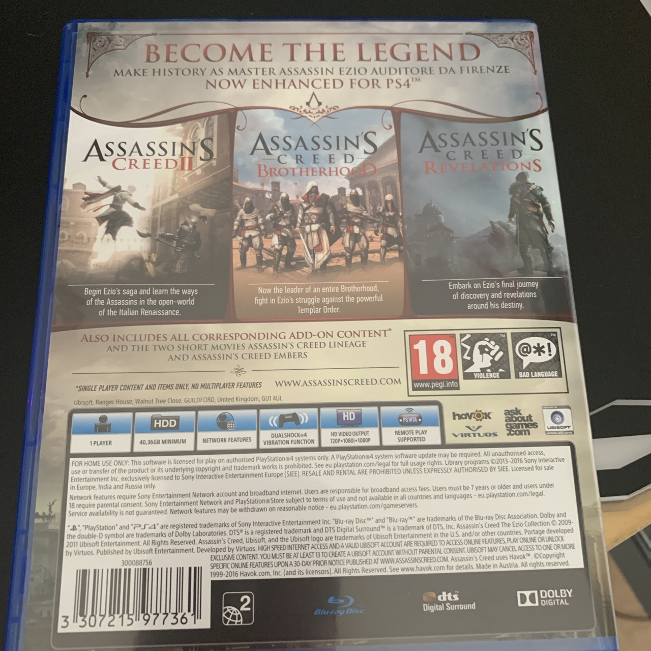 Ps4 Assassin S Creed The Ezio Collection Used Depop