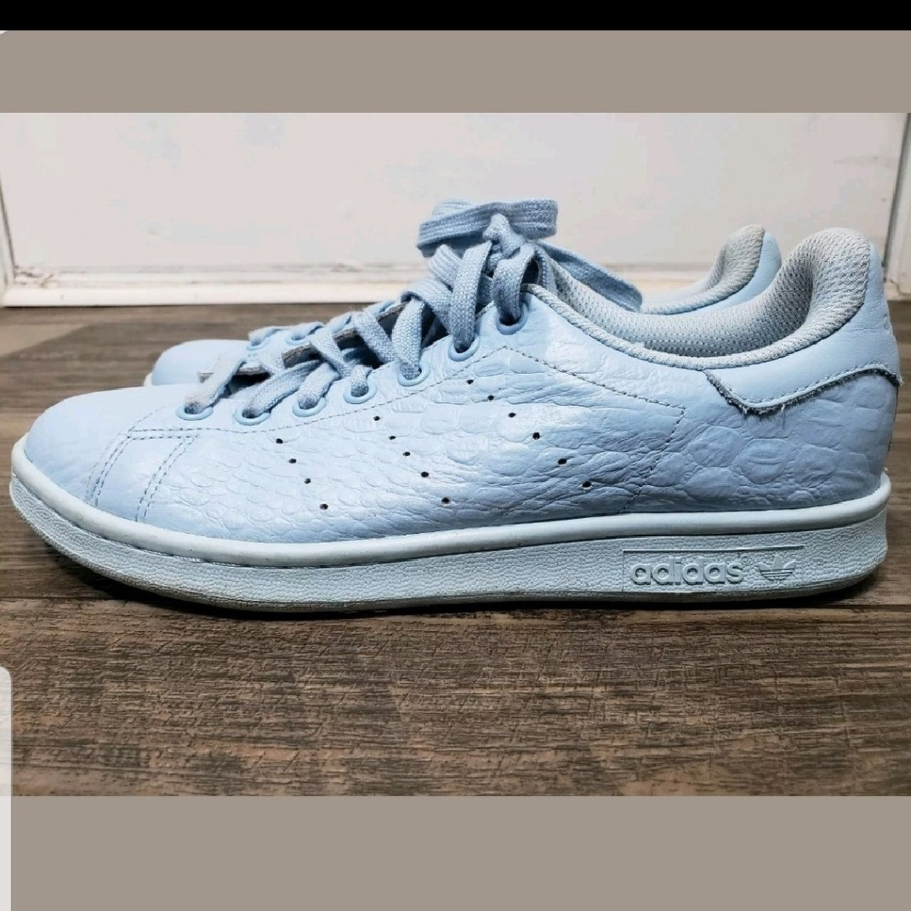 cheapest womens adidas stan smith sky blue 6e582 d0b08