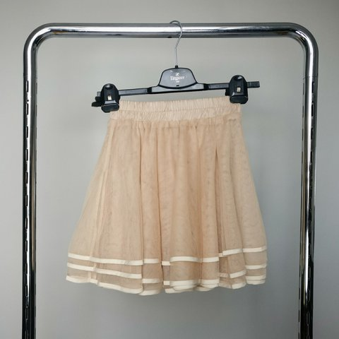 d9851e0be Lookbook Store tulle skirt in a warm beige color. Sold out ✨ - Depop