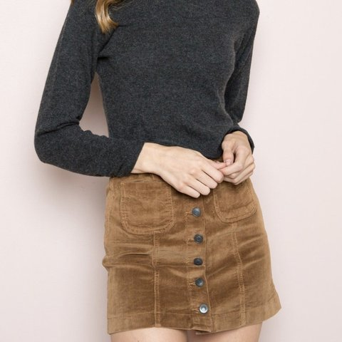 7d301f4b3b @annettefishman. 5 months ago. Los Angeles, United States. ON HOLD Brandy  Melville navy blue corduroy skirt with silver buttons ...