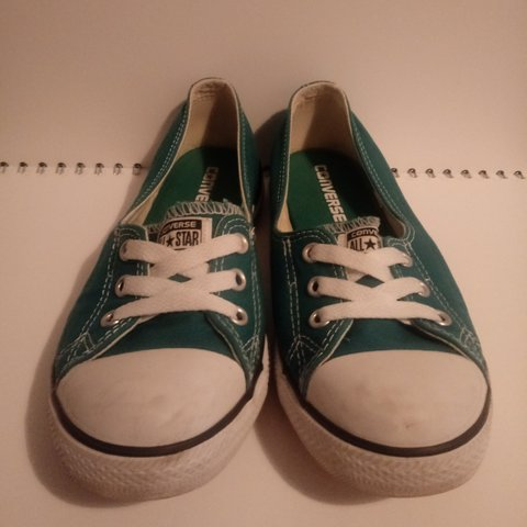 7621e594ba25 A lightly worn pair of turquoise Converse All Star dance Uk - Depop