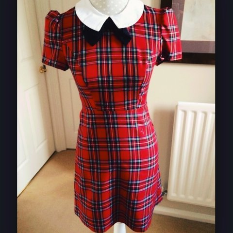 a2b6a465a Atmosphere Primark red tartan smock shift dress size 6. sold - Depop