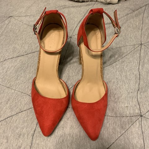 f651d20dbf22 Never worn red cork heels from Charlotte Russe. pointed toe