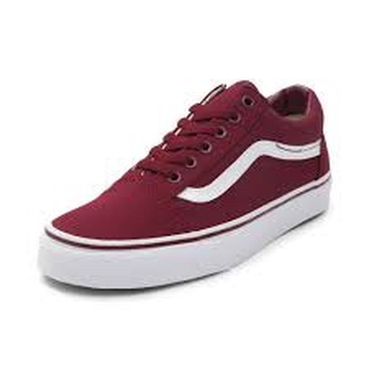 Maroon vans old skool skate shoes! Size  women s 6.5   men s - Depop 11301af88