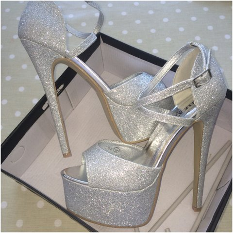 2f19a774a1fb @jasminefunnell. 3 years ago. Worthing, West Sussex, UK. ESSEX GLAM STRAPPY  PLATFORM HIGH HEEL SPARKLE SANDAL ...