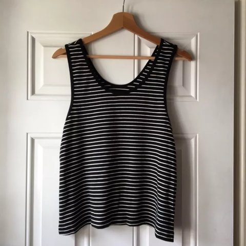 236b6da4e16f5d @jessicaw_30. 2 months ago. Northamptonshire, UK. American Apparel black  and white striped vest top. Size small so would fit ...