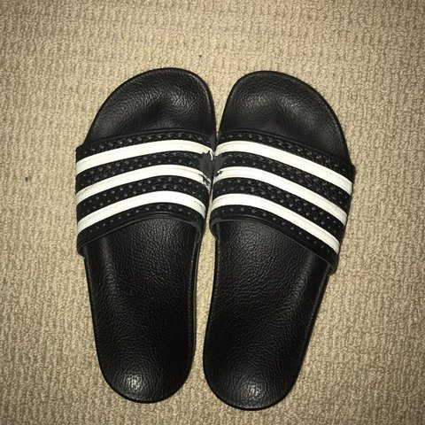 a7192c2b5930 Adidas Slides Size 8 Women s price is negotiable it s just - Depop