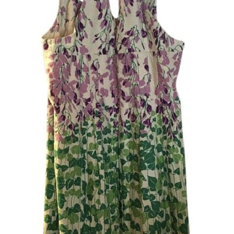 4f8f21d0d98f Gorgeous purple and green print dress from Anthropologie! a - Depop