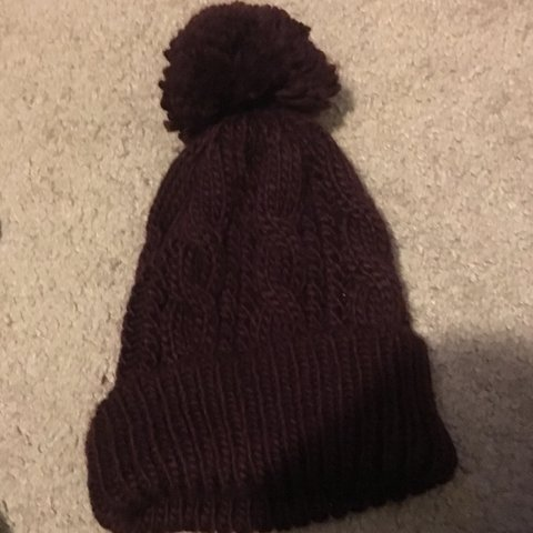 9dba5a1d2f777 forever 21 maroon winter hat! cute and soft and is shown in - Depop