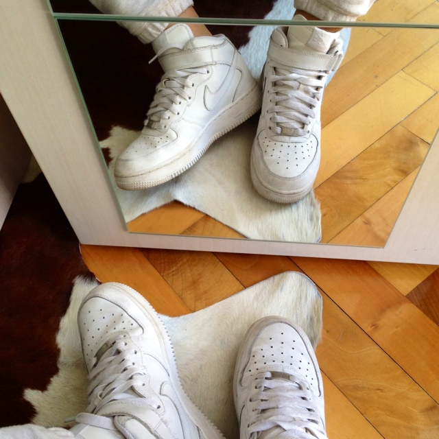 air force 1 donna bianche alte