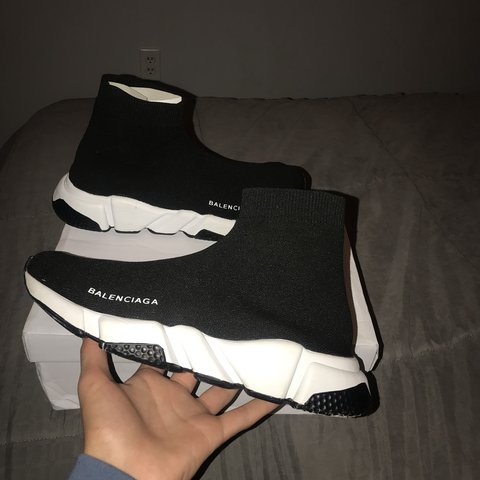 916d41b984fd Balenciaga Speed trainers. SIZE 8.5 IN MEN they fit like a 9 - Depop