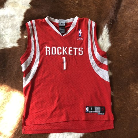 4dfa686a80a Tracy McGrady  1 Huston Rockets Reebok basketball jersey fit - Depop