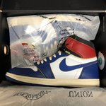 80e72e08d01 Union x Jordan 1 Blue toe LOS ANGELES EXCLUSIVE SIZE: 8 - Depop
