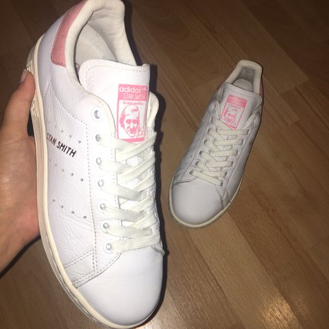 114375d5b126 Adidas Stan Smith White Ray Pink Rose Gold Exclusive • UK 5 - Depop