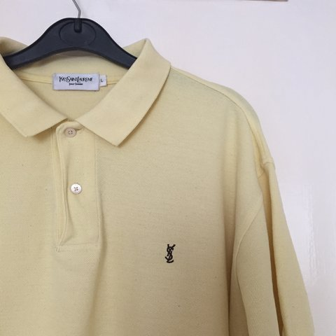 4723962a @chanisef. 20 days ago. London, UK. Vintage YSL Yves Saint Laurent Polo  shirt. Pastel yellow colour in size L. ...