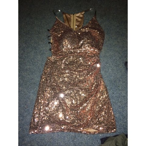 9fc8a9d6 Sexy pink sequin sparkly mini dress | Size small | In New | - Depop