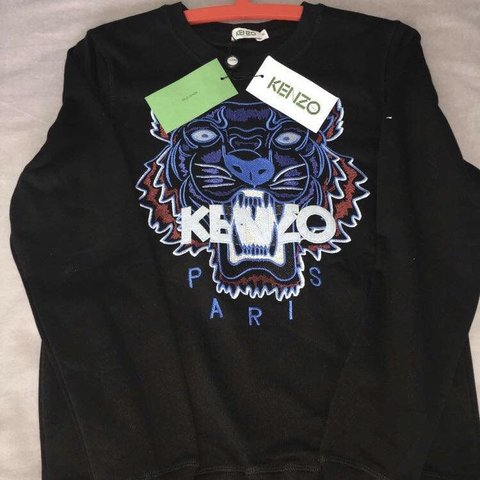ef6d976d73e Boys Black kenzo jumper, size 13-14 In brand new condition - Depop