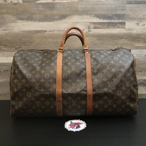 "4ab6a6b5fb3b Louis Vuitton Keepall 55 Duffle Bag 22.5"" x 12"" Lightly - Depop"