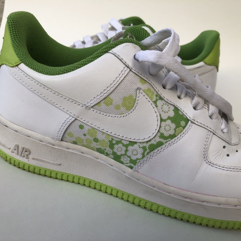 Awesome lime green floral '82 Nike Air
