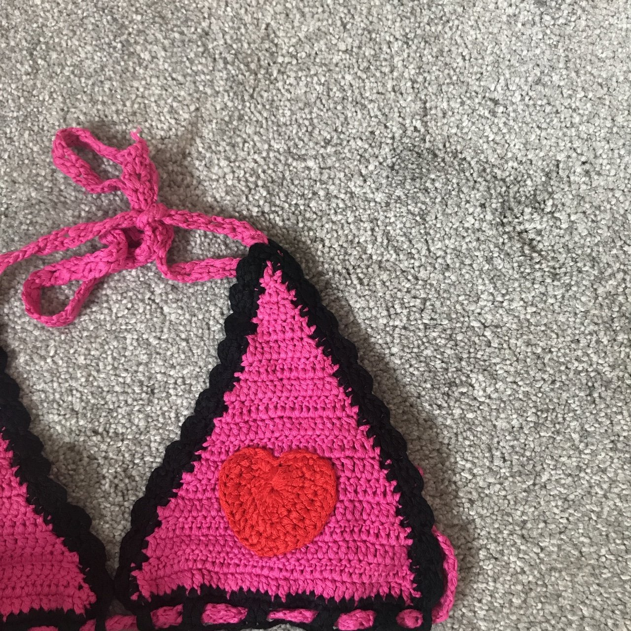 cutest little knitted bralette with heart! perfect for eg 668d1e585