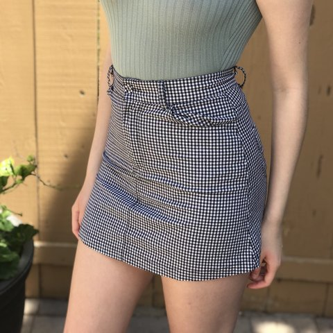 732f52f07681 @carlywalton. last year. San Diego, United States. Brandy Melville Juliette  Black and White Checkered Skirt ...