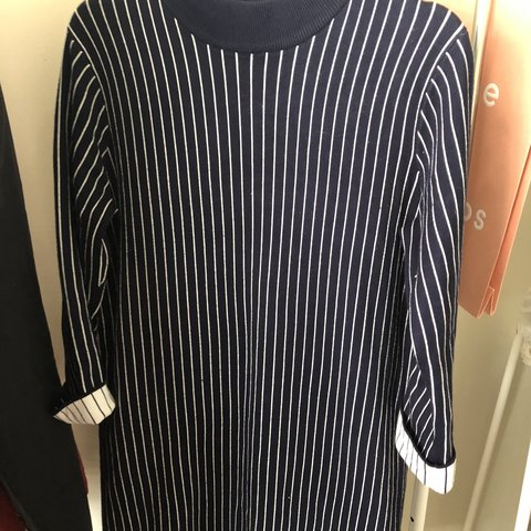 255f26e86f6 Forever21 large striped sweater dress in size L! - Depop