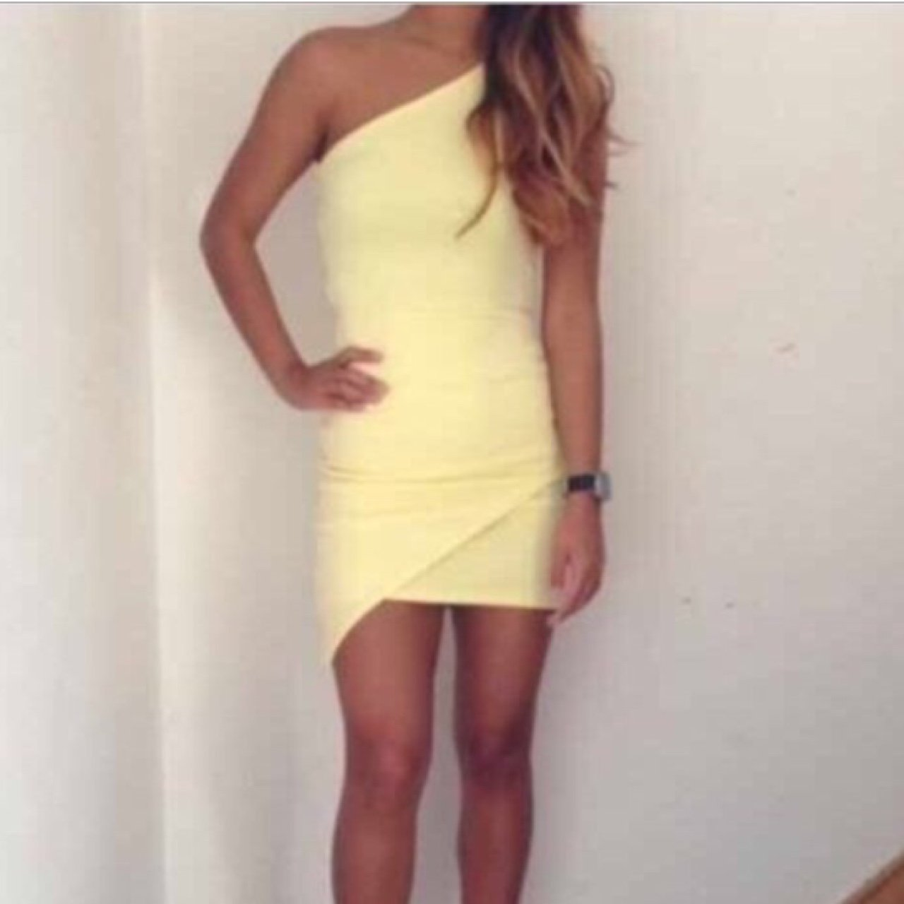 e639ac5bcc Yellow summer dress from missguided