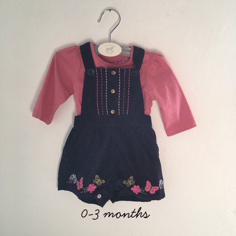 e825bc2511c8 0-3 months baby girl romper with top. Gorgeous butterfly a - Depop