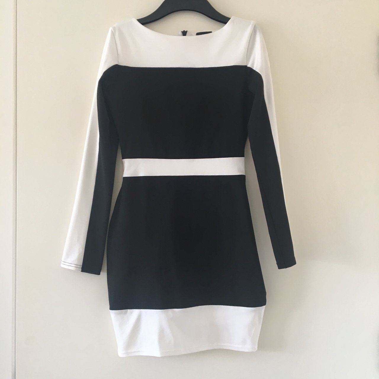 47d340cdbe Black and White Bodycon dress Size