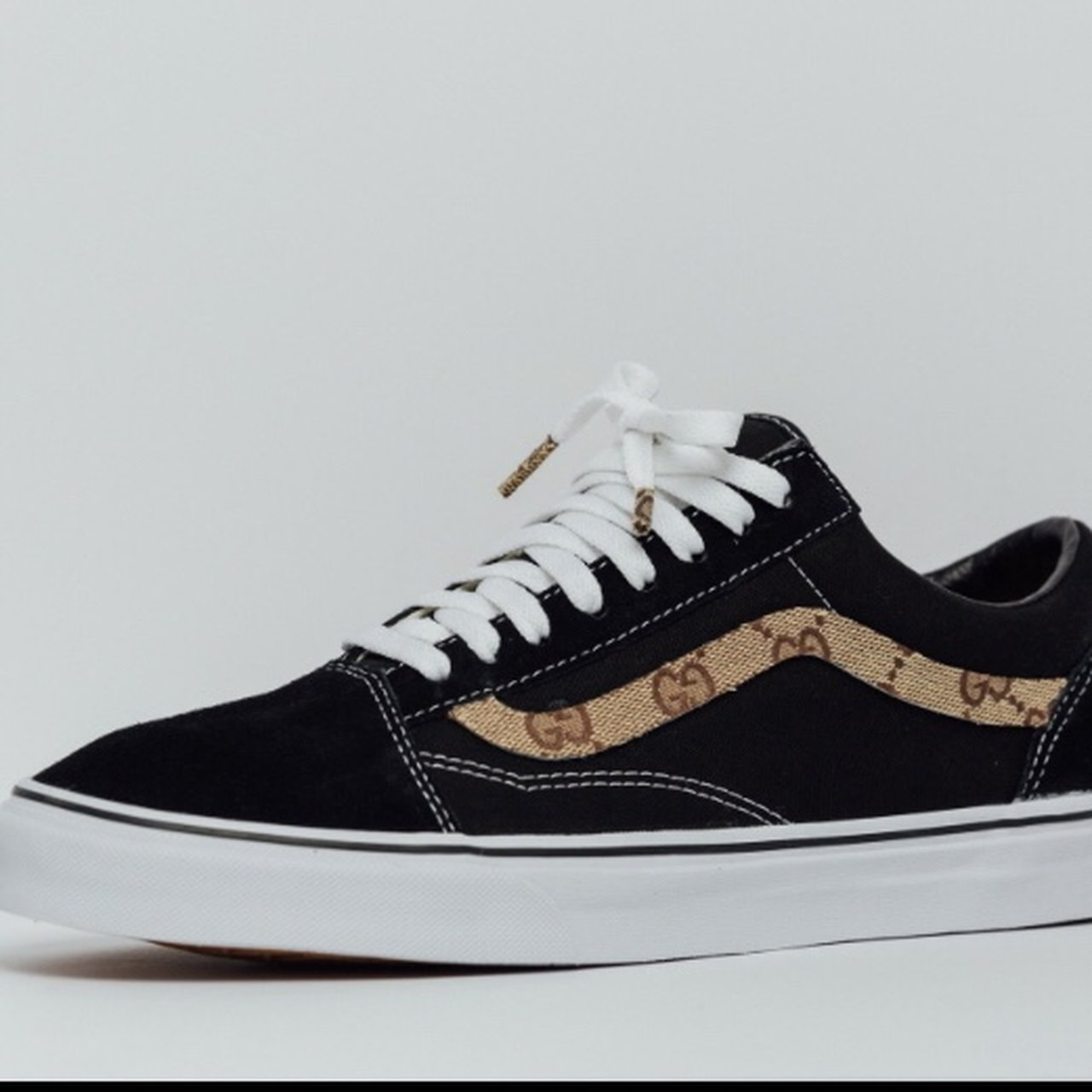 52deb3a655e Vans old Skool x Gucci Custom Made to order please 1-2 to - Depop