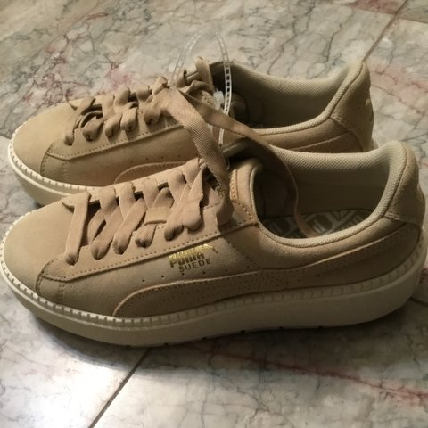 00dd66d8727 On hold BRAND NEW TAN PUMA SUEDE CREEPERS PLATFORMS Never - Depop