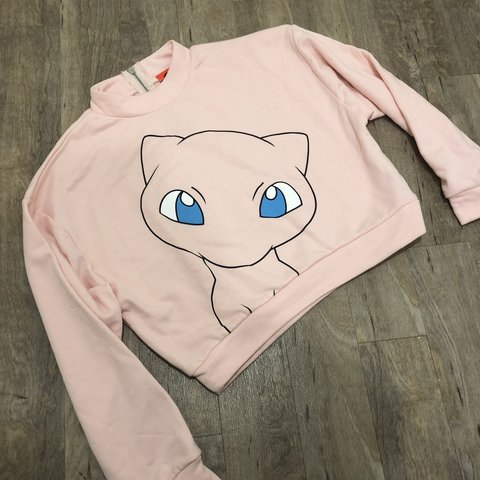 2ee84bc3842da8 Mew cropped sweater free size but fits small best Pokemon - Depop