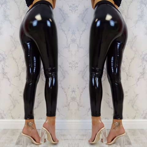 bd6a2d1f131987 Brand New SeXXXy Wet Look High Shine Leggings with thick 🔥 - Depop